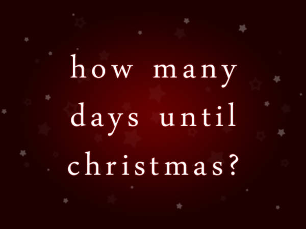 How Many Day Till Christmas.Many Weeks Until Christmas A Listly List