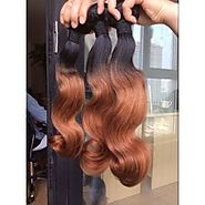 Short and Long Natural Hair Ombre Extensions Weave