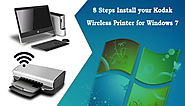 8 Steps Install your Kodak Wireless Printer for Windows 7