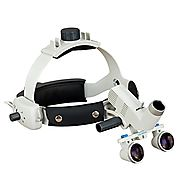 Headband Dental Surgical Loupes with LED Headlight, 3.5x , 460mm working distance
