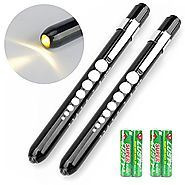 Opoway Nurse Penlight with Pupil Gauge LED Medical pen light for Nurses Doctors Batteries Free