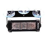 Abrams SAE Class-1 Focus 1X Series (Purple) 18W - 6 LED Funeral Vehicle Truck Windshield Strobe Warning Dash & Deck L...