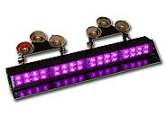 Purple Light Bar LED Funeral Vehicle Light Warning Emergency Dash Deck