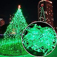 Autolizer 100 LED GREEN Fairy String Lights Lamp for Xmas Tree Holiday Wedding Party Decoration Halloween Showcase Di...