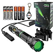 Nebo 6113 iProtec LG170 Tactical Green LED Flashlight with Universal Mount & Dual Mode Pressure Switch, Includes 3x E...