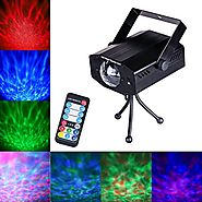 DuaFire 7 Colors LED Laser Light Projector, Voice-activated Stage Strobe Light with Remote Control, Energy-Saving Wat...