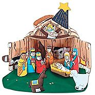 Fabric Nativity Manger Set for Children By Pockets of Learning