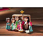 Childrens Pageant Resin Stone Creche Christmas Nativity 9 Piece Figurine Set