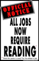 Reading Poster: All Jobs Now Require Reading