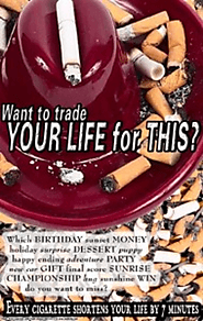 Anti-Cigarette Poster: Want to Trade Your Life For This?