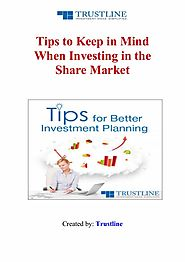 Tips to Keep in Mind When Investing in the Share Market
