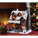 Smoking Country Christmas Village Incense House