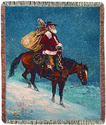 Cowboy Christmas by Jack Sorenson Tapestry Throw