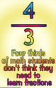 (d37) Poster #328- Fractions, Arithmetic, Math Poster for Middle, High School Classrooms