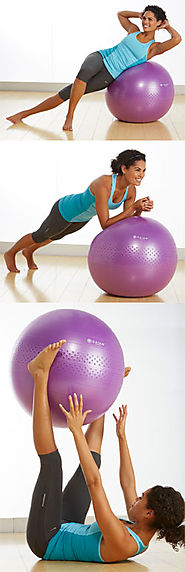 Yoga Home Workout with a $20 Stability Ball