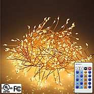 RUICHEN Firecracker Shapped String Lights 5FT 400 LEDs Bright Starry Lights with 18 Keys Remote Control For Outdoor I...
