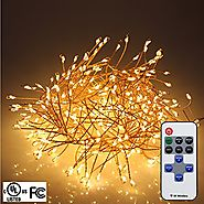 RUICHEN Firecracker Shapped String Lights 5FT 400 LEDs Bright Starry Lights with 11 Keys Remote Control For Outdoor I...