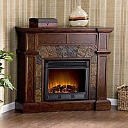 SEI Cartwright Convertible Electric Fireplace, Espresso