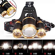 Werleo 5000 Lumen 3 CREE T6 LED Super Bright Focus Zoom Headlamp Flashlight High Power Waterproof Headlight Torch for...