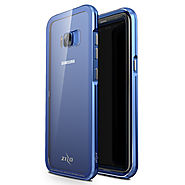 Samsung Galaxy S8 - Zizo ATOM Case w/ Tempered Glass Screen Protector and Airframe Grade Aluminum - Blue