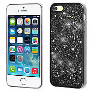 Apple iPhone 5 Silver Starry Sky (Black) Krystal Gel Series TPU Case Cover :: CellPhoneCases.com