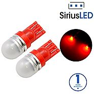 SiriusLED Super Bright 1W 360 Degree Projector LED Bulbs for Interior Car Lights Gauge Instrument Panel Dome Map Side...