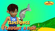 12345 Once I Caught A Fish Alive! | 3D Nursery Rhymes with Lyrics | The Numbers Song - KidsOne