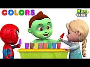 Learn COLORS with Ice Cream Choco BAR Baby Hulk Teach Colors to Baby Spider, Baby Frozen