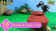 Thirsty & Clever Crow Story | Panchatantra Stories for Children | 3d Animated English Stories