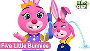 Kids Animation | Five little bunnies | Animated Rhymes | (Repeat Loop)