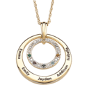 Mothers Necklace with Kids Birthstones