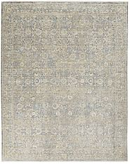 Transitional & Casual Rugs Lustrous Weave LUW01 Ivory/Blue Machine Made Rug
