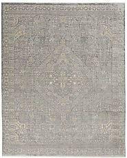 Transitional & Casual Rugs Lustrous Weave LUW 02 Grey/Beige Machine Made Rug