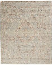 Transitional & Casual Rugs Lustrous Weave LUW02 Grey/Brick Machine Made Rug
