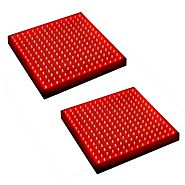 HQRP 28W 450 Red LED Indoor Garden Hydroponic Plant Grow Light Panel for growing Flowers, Fruits, Vegetables + Hangin...