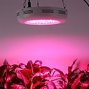 Derlights 300W UFO Full Spectrum LED Grow Light with IR & UV, Growing Lamp for Indoor Gardening Hydroponics System Gr...
