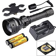 Evolva Future Technology T50 IR 50mm Lens Infrared Flashlight Night Vision Torch Light - Infrared Light is Invisible ...