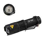 Mini IR Lamp 940nm LED Infrared Flashlight Night Vision Zoomable Hunting Torch-To Be Used with Night Vision Device (I...