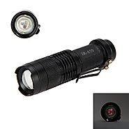 WindFire Mini IR Lamp Zoomable 5W 850nm LED Infrared Flashlight Night Vision AA Battery Hunting Torch-To Be Used with...