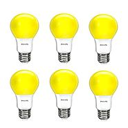 Philips LED Yellow Bulb 6 Pack, 60 Watt Equivalent, A19 Non Dimmable, Medium Screw Base