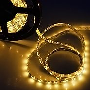 FAVOLCANO Yellow 16.4 Feet 5M SMD 3528 300 Leds Flexible Lighting IP65 Waterproof 60led/M Led Light Strip ,LED Tape ,...