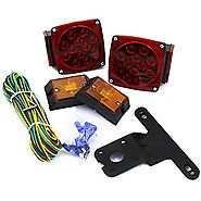 XtremepowerUS 12 Volt LED Universal Mount Combination Trailer Tail Lights Kit