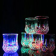 Bar Glasses Funny,DiDaDi [3 PCS] Water Activated Colorful Flashing LED Light Up Shot Glasses Blinking Beer Wine Whisk...