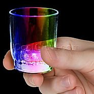 Fun Central AC684 LED Light Up Shot Glass - Multicolor