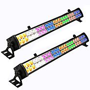 Eyourlife 2 Pcs 48 x 3 W LED Wash Wall Light Bar DJ Lighting DMX512 3/12 Channels Stage Lights Party Wedding Lights 8...