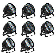 Eyourlife LED Stage Lights 8pcs 54X3W LED DJ PAR Light RGBW 162Watt DMX 512 Stage Lighting Disco Projector for Home W...