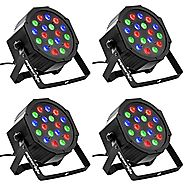 Eyourlife 4pcs 18X3W LED Par Light 54W RGB PAR 64 DMX512 Stage Lighting