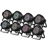 XeeStore Stage Lights Stage Lighting Packages 8PCS 36 X 3W Led Stage Lighting DMX512 for Party DJ Club