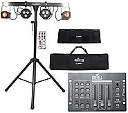 Package: Chauvet DJ GIG BAR LT With Moonflowers, LED Pars, Strobe Lights, Sound Active Program, Tripod and Carry Bag ...