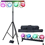 DragonX 4 Bar LED mobile DJ Stage Lighting Packages/LED Wash Stage Light System/DJ Light Kit Gig Bar Package Set/ Sou...